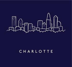 Charlotte Skyline Sketch